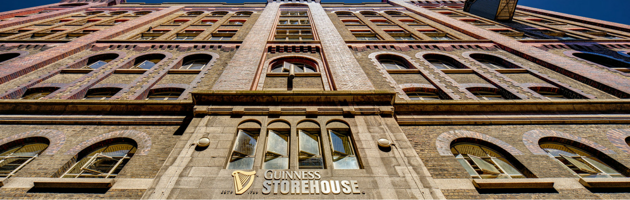 Exterior of Guinness Storehouse building